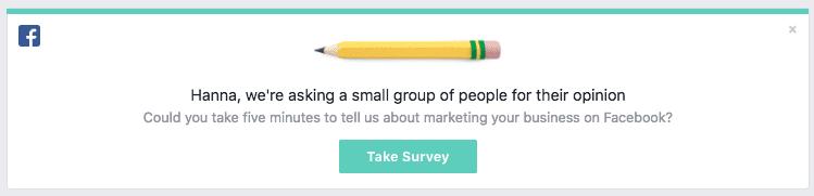 Facebook-enkät UX-writing