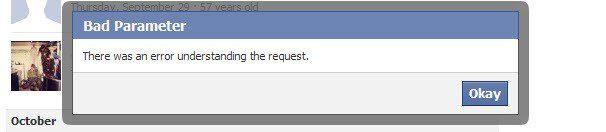 Facebook error UX-writing